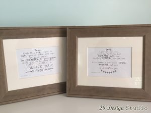 Wedding Vows First Anniversary Art