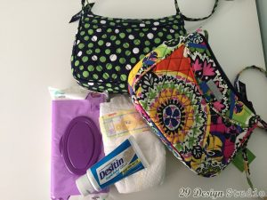 Vera Bradley Diaper Clutch Gift for Grandma Baby Shower Diapers Wipes Diaper Cream