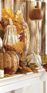gold rustic pumpkins