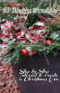 Step by Step Christmas Urn Tutorial