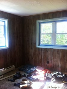 Guest Bedroom Wood Paneling Paint Makeover Before