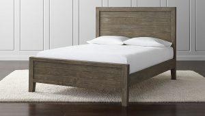 Sleek Rustic Wood Bedframe