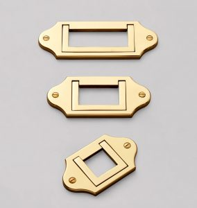 Brass Campaign style cabinet pulls