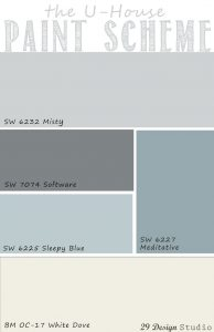 Light Blues Grays Neutrals Whole House Paint Scheme
