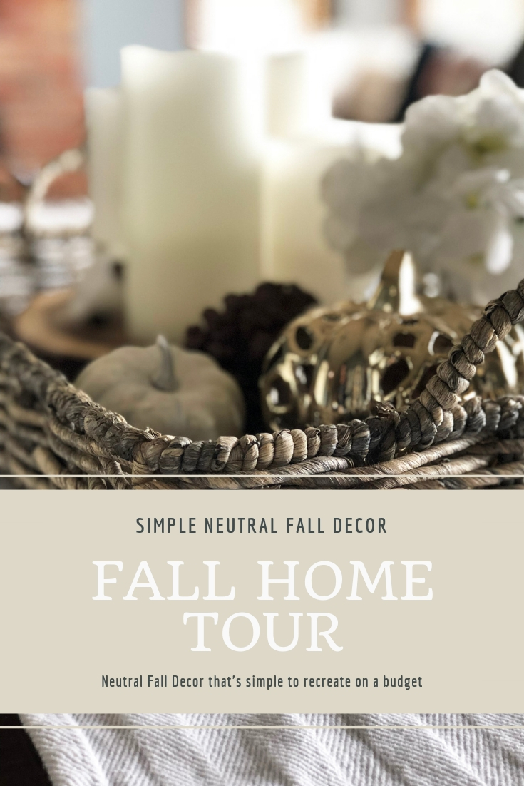 Neutral Fall Decor Ideas on a budget