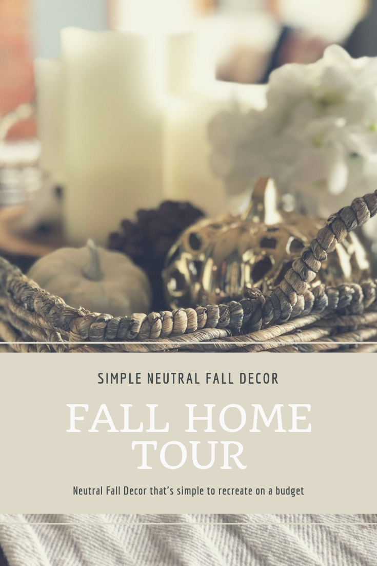 White and Gold Neutral Fall Decor