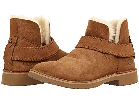 Brown Suede Fur Lined Ugg McKay Bootie