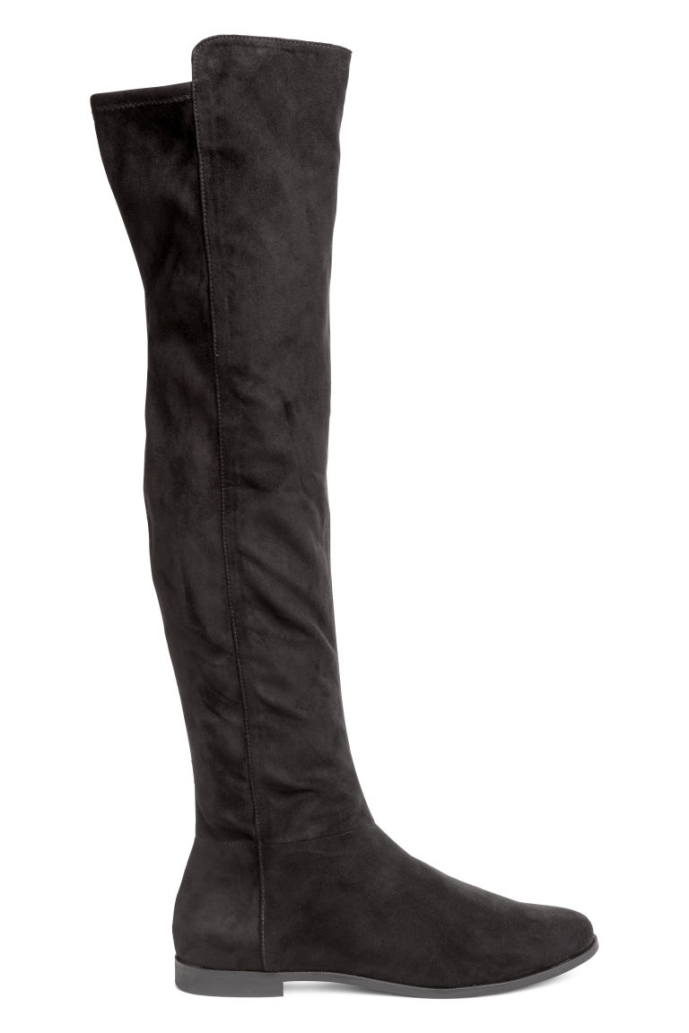 Over the Knee Flat Black Boot