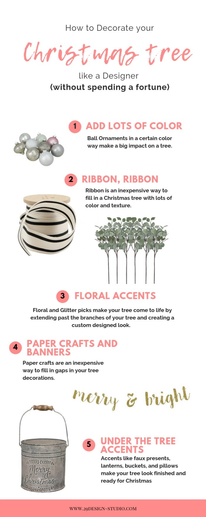 The Beginner's Guide to Decorating a Christmas Tree like a Professional Designer….(on a Budget)