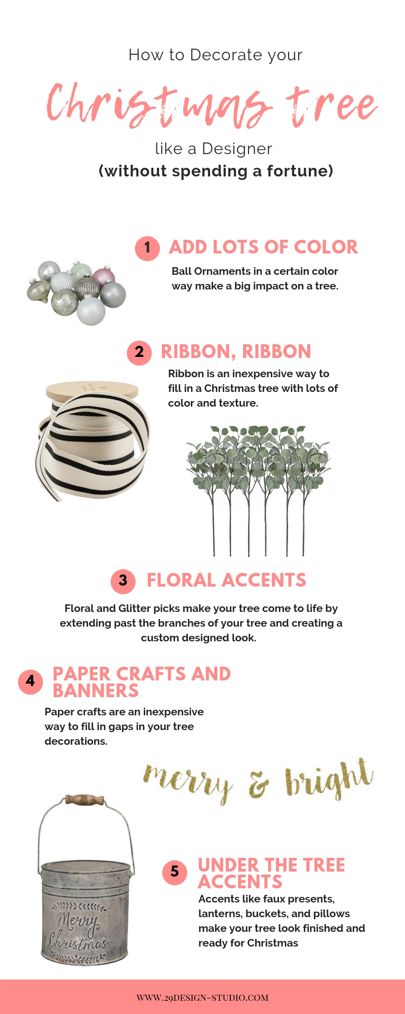 How to Decorate your Christmas tree like a Designer: Easy tips for changing your Christmas Decor on a budget