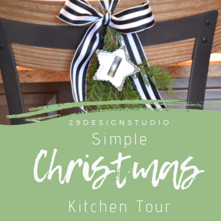 Christmas Kitchen Decor: Christmas Kitchen Tour in Black, White & Greenery