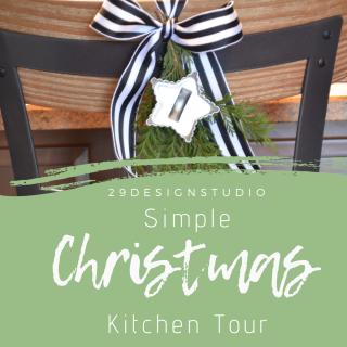 Christmas Kitchen Decor: Christmas Kitchen Tour in Black, White & Greenery