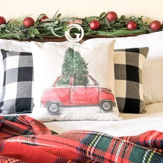 Red Christmas Bedroom Tour