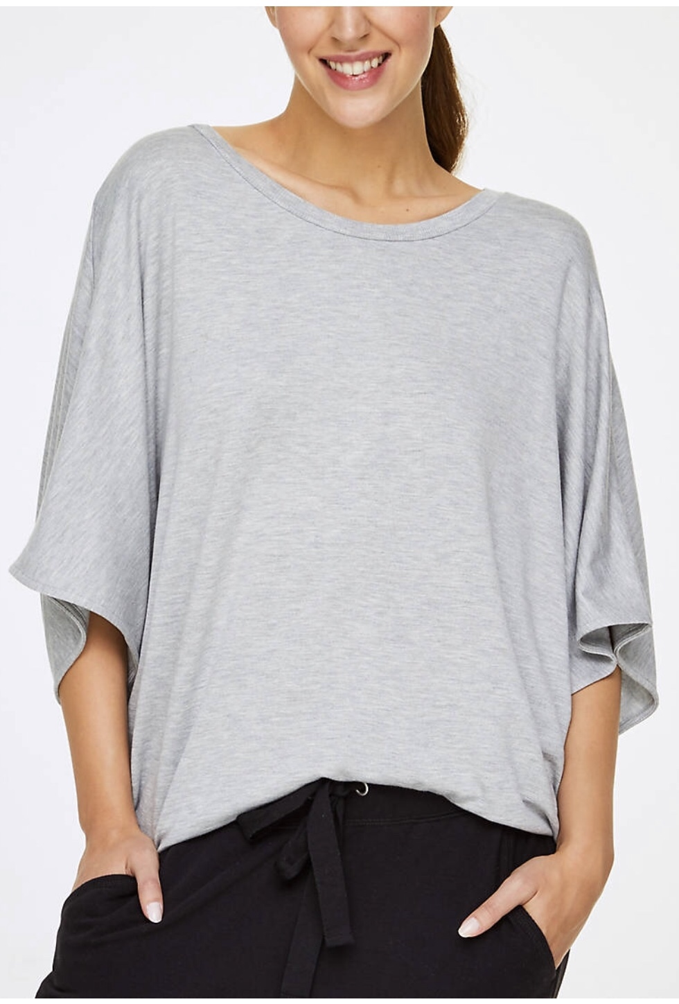 gray summer poncho
