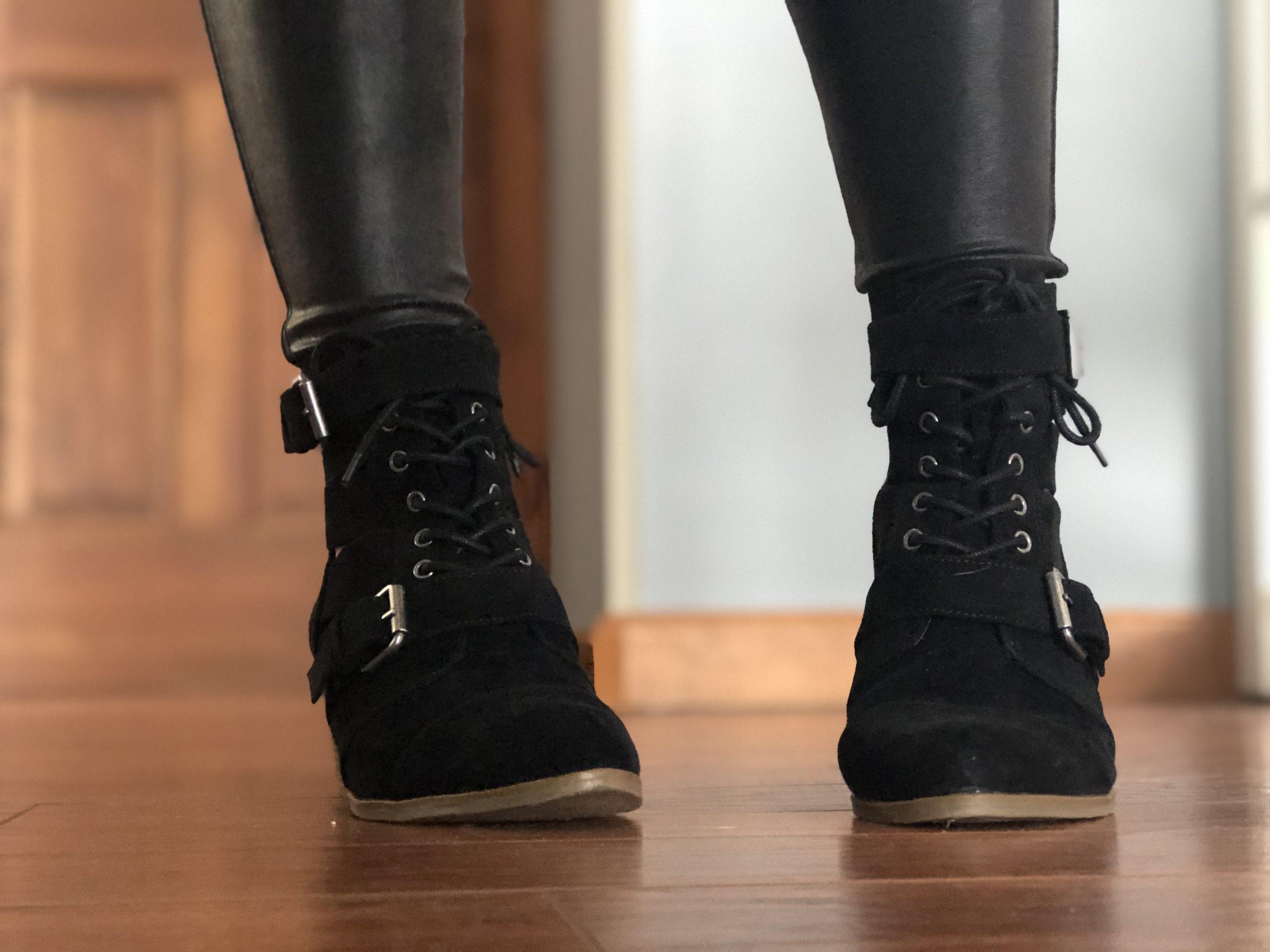 Target black buckle ankle booties, Chloe rylee boot dupe