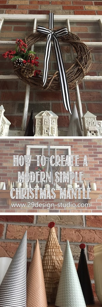 Creating a Christmas Mantlescape on a Budget