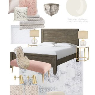 Gorgeous and Feminine Modern Blush Bedroom
