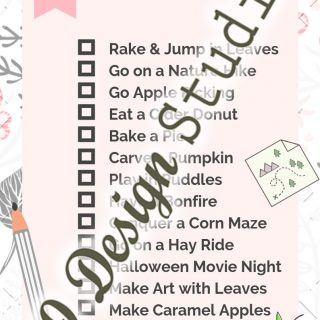 Family Fall Bucket List (with Free Printable)
