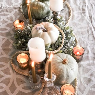 Muted Elegance Thanksgiving Tablescape