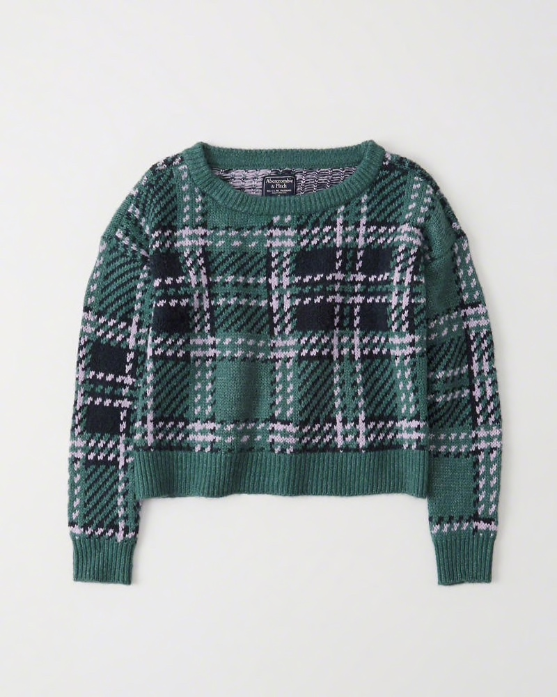 Green Plaid Sweater